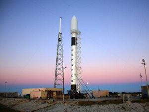 Moonrise Behind Falcon 9