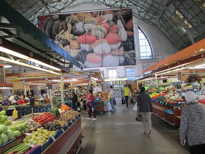 produce at the Riga Central Market