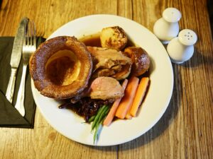 pub roast and Yorkshire pudding