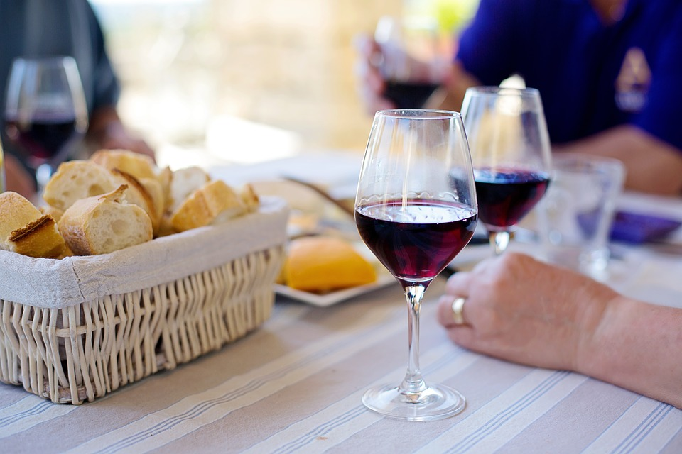 Red Wine, French, France, Baguettes, Bread, Wine, Drink