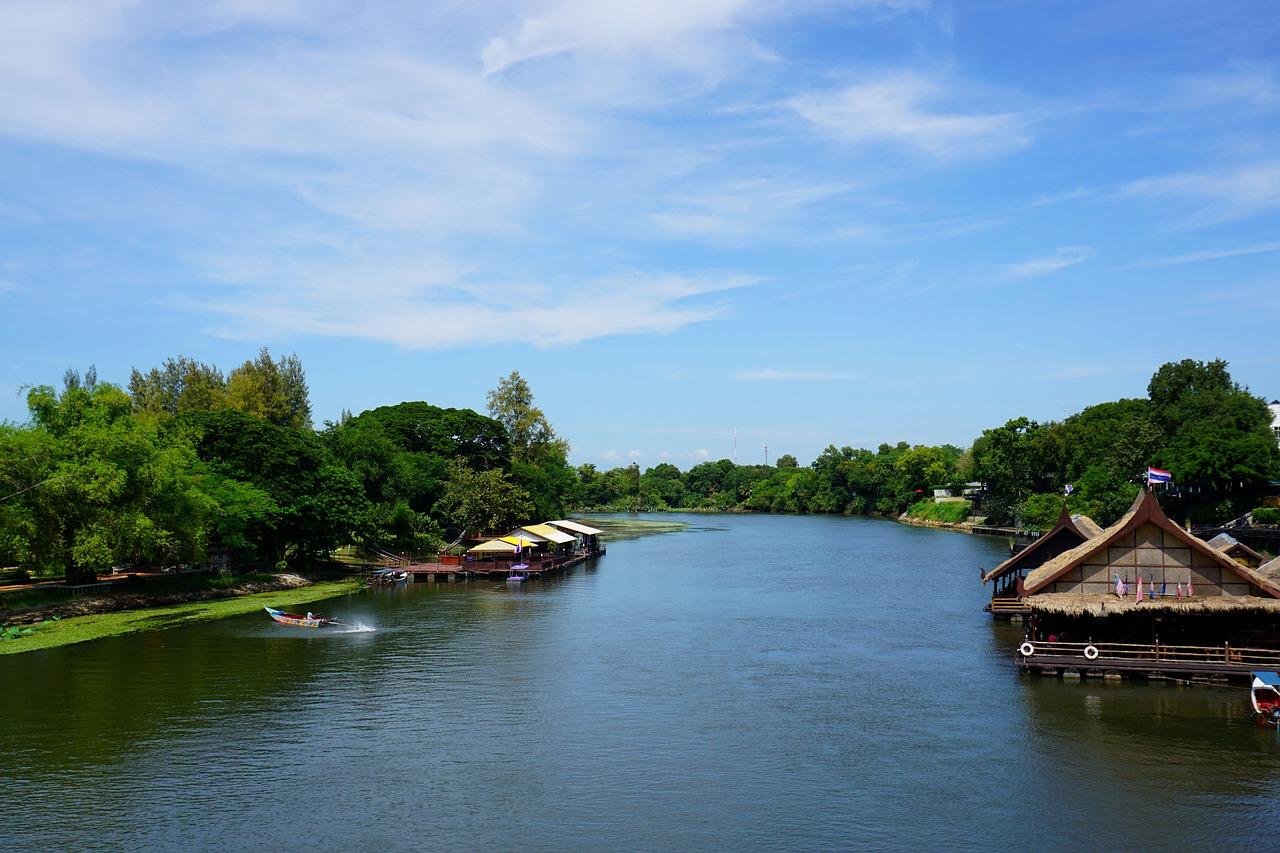 river Kwai in Thailand