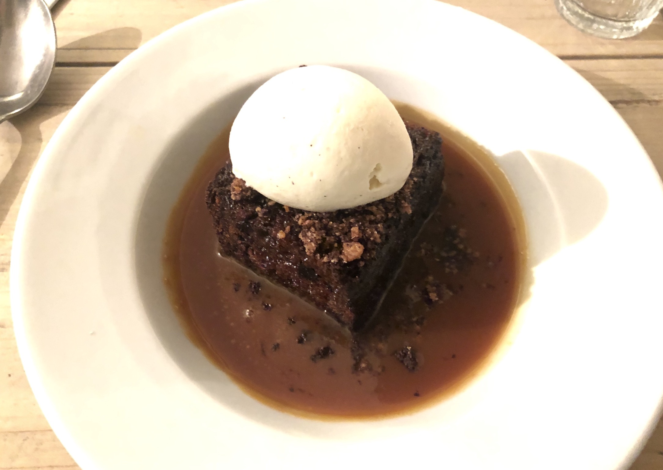 British food - sticky toffee pudding