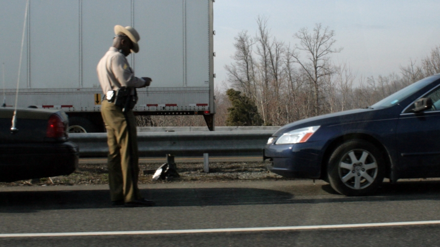 Trooper issues a ticket by flickr user woodleywonderworks